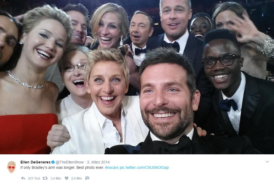 Virales Marketing - Oscar-Selfie von Ellen de Generes